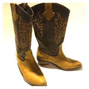 Diba Park Stop Leather Cowgirl Riding Boots